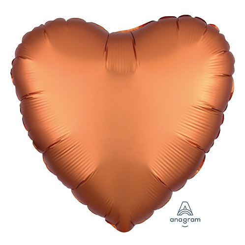 "18"" Satin Luxe Heart Foil Balloon - Amber"