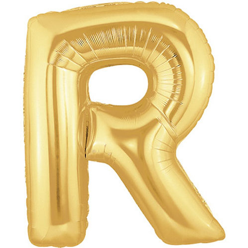 "40"" Gold Letter Helium Balloon R - 40GR"