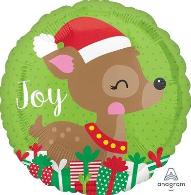 """18"""" Christmas Reindeer Christmas Joy Helium Balloon - x27"""