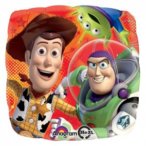 "18"" Square Shape Toy Story Woody&Buzz&Aliens Helium Balloon - t10"