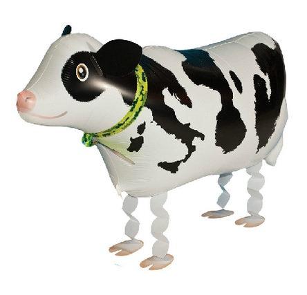 "18"" Cow Walking Pet Helium Balloon - wp11"