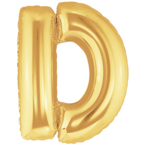 "40"" Gold Letter Helium Balloon D - 40GD"