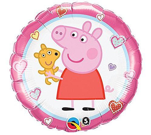 """18"""" Peppa Pig with Heart Pattern Helium Balloon - y05"""