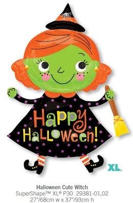 """40"""" Witch Happy Halloween Helium Balloon - hw14"""
