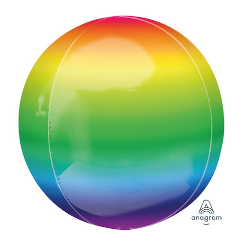 "16"" Orbz Sphere Shape Balloon - Rainbow2"