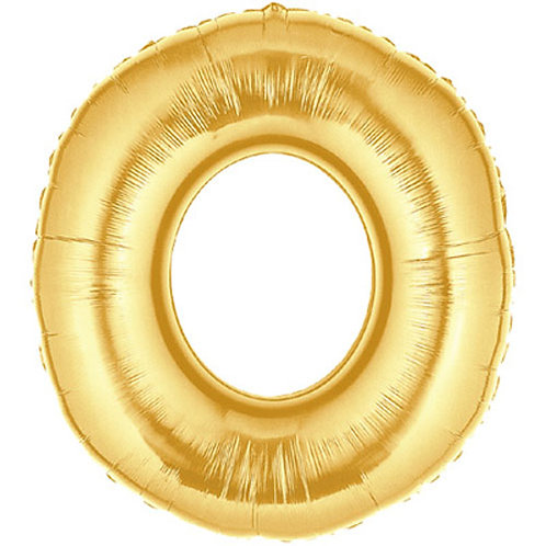 "40"" Gold Letter Helium Balloon O - 40GO"