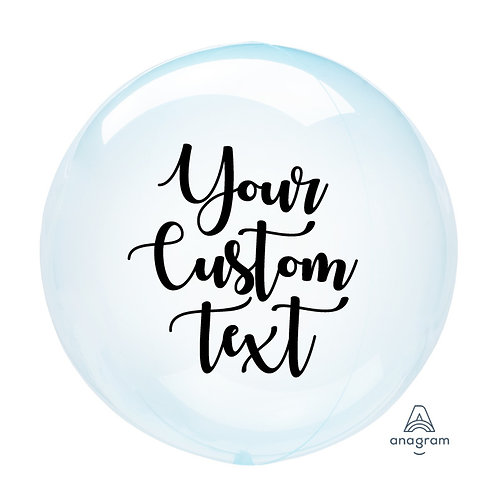 """18"""" Personalise Color Crystal Clearz Bubble Balloon - Blue"""