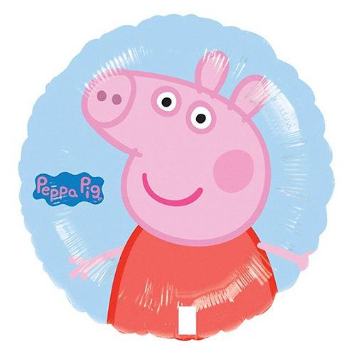 "18"" Peppa Pig Blue Background Helium Balloon - y07"