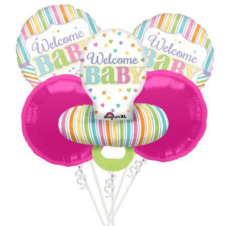 Welcome Baby Helium Balloon Bouquet - bq50
