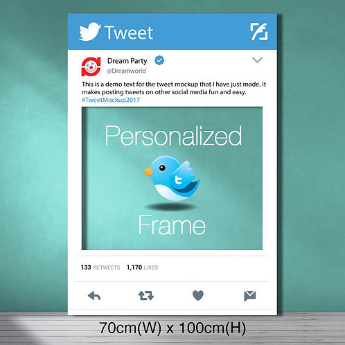 Personalized Twitter Frame - Medium size