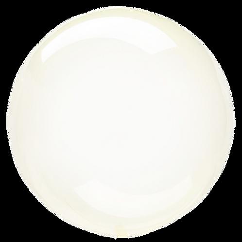"18"" Crystal Clearz Bubble Balloon - Yellow"