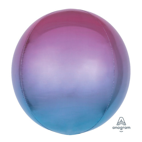 "16"" Orbz Sphere Shape Balloon - Purple & Blue"