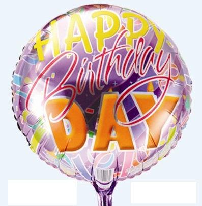 "18"" Purple Colour HBD Helium Balloon - hb34"