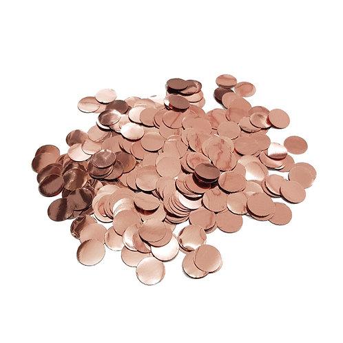 30gram Mini Paper Round Confettis (1cm) - Rose Gold
