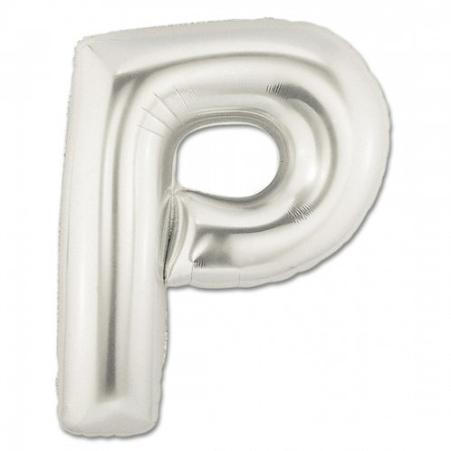 """40"""" Silver Letter Helium Balloon P - 40SP"""