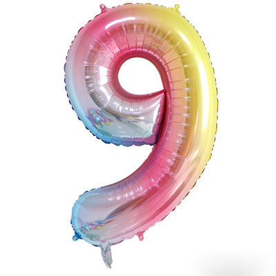 """40"""" Fantasy Colour Number Helium Balloon 9 - 40F9"""