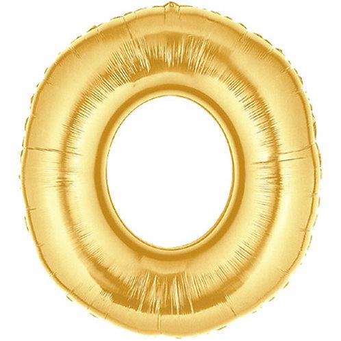 """14"""" Gold Letter Balloon O - 14GO"""