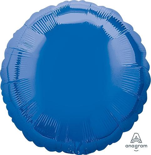 """18"""" Round Foil Balloon - Metallic Blue"""