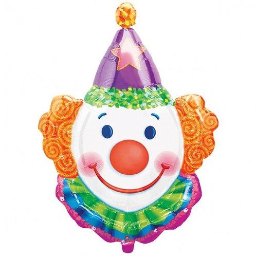 """30"""" Clown Head Helium Balloon - z29"""