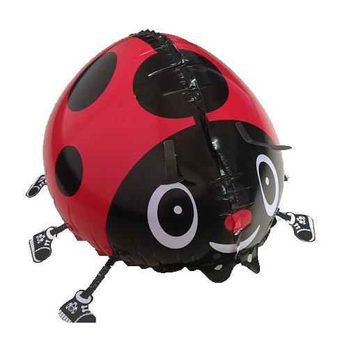 "18"" Ladybug Walking Pet Helium Balloon - wp16"