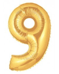 """40"""" Gold Number Helium Balloon 9 - 40G9"""