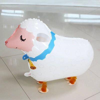 """18"""" Sheep Walking Pet Helium Balloon - wp21"""