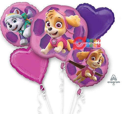 Paw Patrol Skye & Everest Helium Balloon Bouquet - bq58