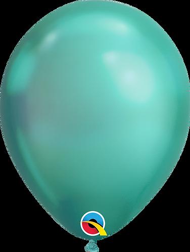 """11"""" Chrome Latex Balloon - Chrome Green"""