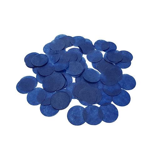 30gram Mini Paper Round Confettis (2.5cm) - Royal Blue