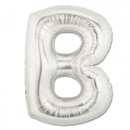 "14"" Silver Letter Balloon B - 14SB"