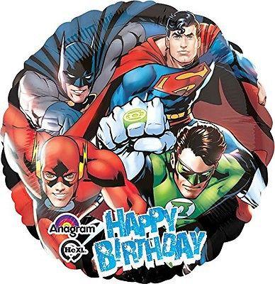"18"" Superhero Justice League HBD Helium Balloon - s07"
