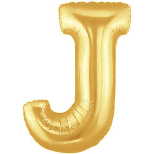 """14"""" Gold Letter Balloon J - 14GJ"""