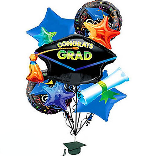 Graduation Hat Helium Balloon Bouquet - bq45