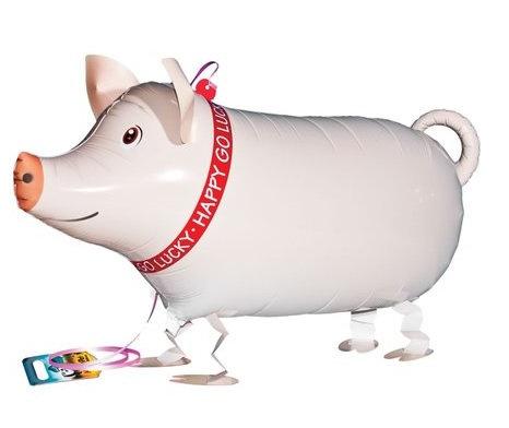 """18"""" Pig Walking Pet Helium Balloon - wp13"""