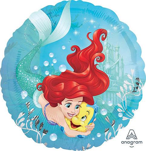 "18"" Princess Ariel Hug with Flounder Helium Balloon - ps58"