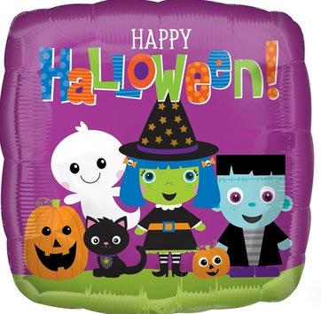 "18"" Square Shape Happy Halloween Party Helium Balloon -  hw22"