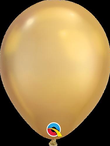 """11"""" Chrome Latex Balloon - Chrome Gold"""
