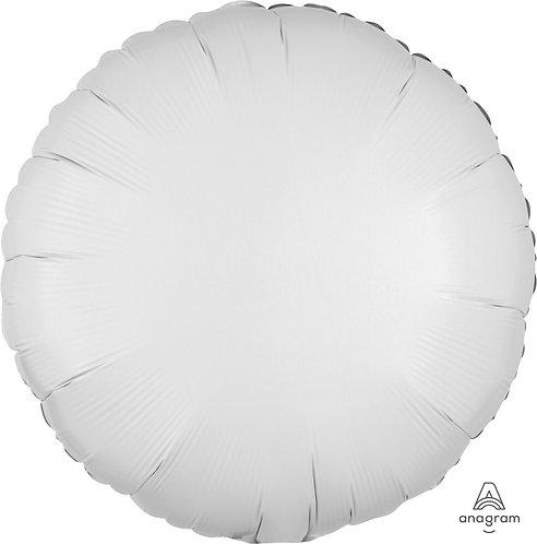 """18"""" Round Foil Balloon - Metallic White"""