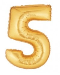"""14"""" Gold Number Balloon 5 - 14G5"""