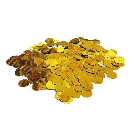 30gram Mini Paper Round Confettis (1cm) - Metallic Gold