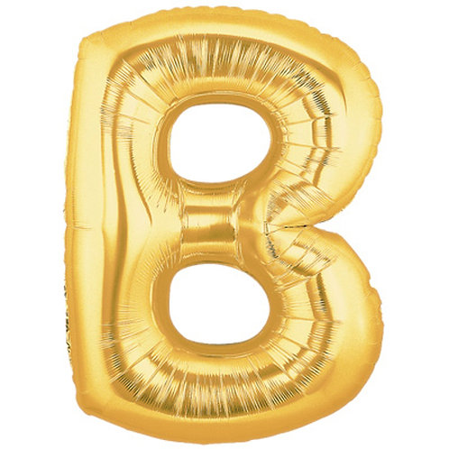 "14"" Gold Letter Balloon B - 14GB"