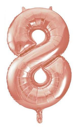 "40"" Rose Gold Number Helium Balloon 8 - 40RG8"