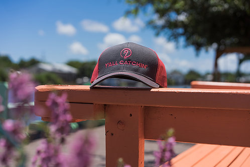 Y'ALL CATCHIN' LOGO CAP (Pink/Charcoal)