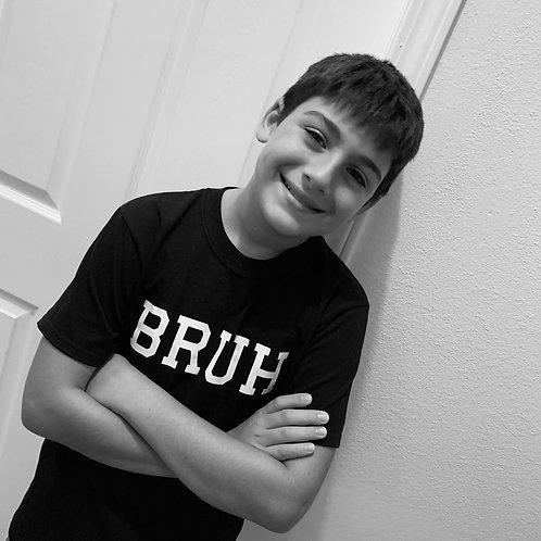 Youth BRUH tees (Black/White)