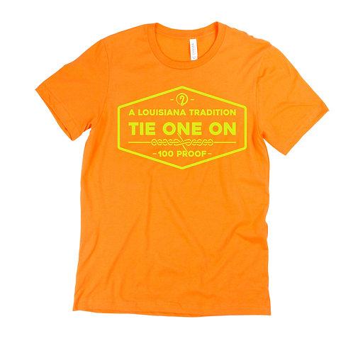 "Y'all Catchin' ""Tie One On"" ICON T-Shirt (Orange/Yellow)"