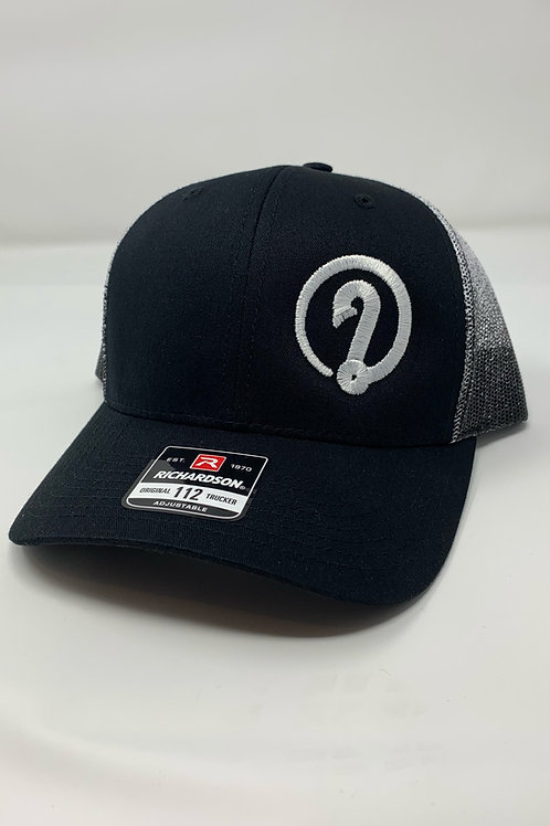 Y'all Catchin' ICON Richardson 112 Trucker Snapback Black and White Hat