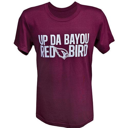 UP DA BAYOU RED BIRD (Burgundy)