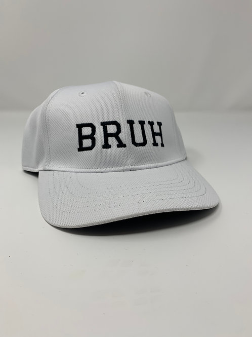 """BRUH"" Logo Flex Fit Hat (White/Black)"