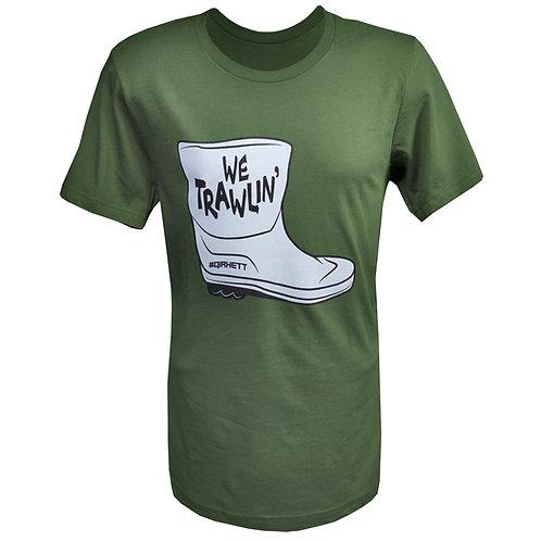 WE TRAWLIN' SHIRT  (Military Green)