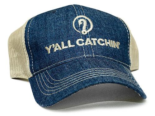 Y'ALL CATCHIN' LOGO CAP (Denim/Tan)